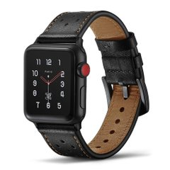 Ремешок JINYA Vogue Leather Band for Apple Watch 38/40 mm - Blue with Orange Dot (JA4014), цена | Фото