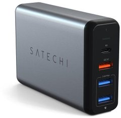Зарядное устройство Satechi USB-C 75W Travel Charger Space Gray (ST-MCTCAM), цена | Фото