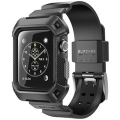 Ремешок с чехлом SUPCASE UB Pro Case for Apple Watch Series 1/2/3 (38mm) - Black (SUP-AW38-UBPRO-BK), цена | Фото