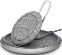 Беспроводная зарядка Moshi Lounge Q Wireless Charging Stand Nordic Gray (99MO022218), цена | Фото