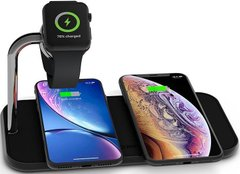 Беспроводное зарядное устройство Zens Dual Aluminium Wireless Charger + Apple Watch 10W White (ZEDC05W/00), цена | Фото