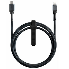 Кабель Nomad USB-C to Lightning Cable Cable Black (1.5 m) (NM01912B00), цена | Фото