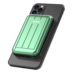 Портативное зарядное устройство c MagSafe FONENG Q28 Magnetic Wireless Charging PowerBank (5000 mAh) - Green, цена | Фото