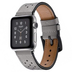 Ремешок JINYA Vogue Leather Band for Apple Watch 42/44 mm - Blue with Orange Dot (JA4008), цена | Фото
