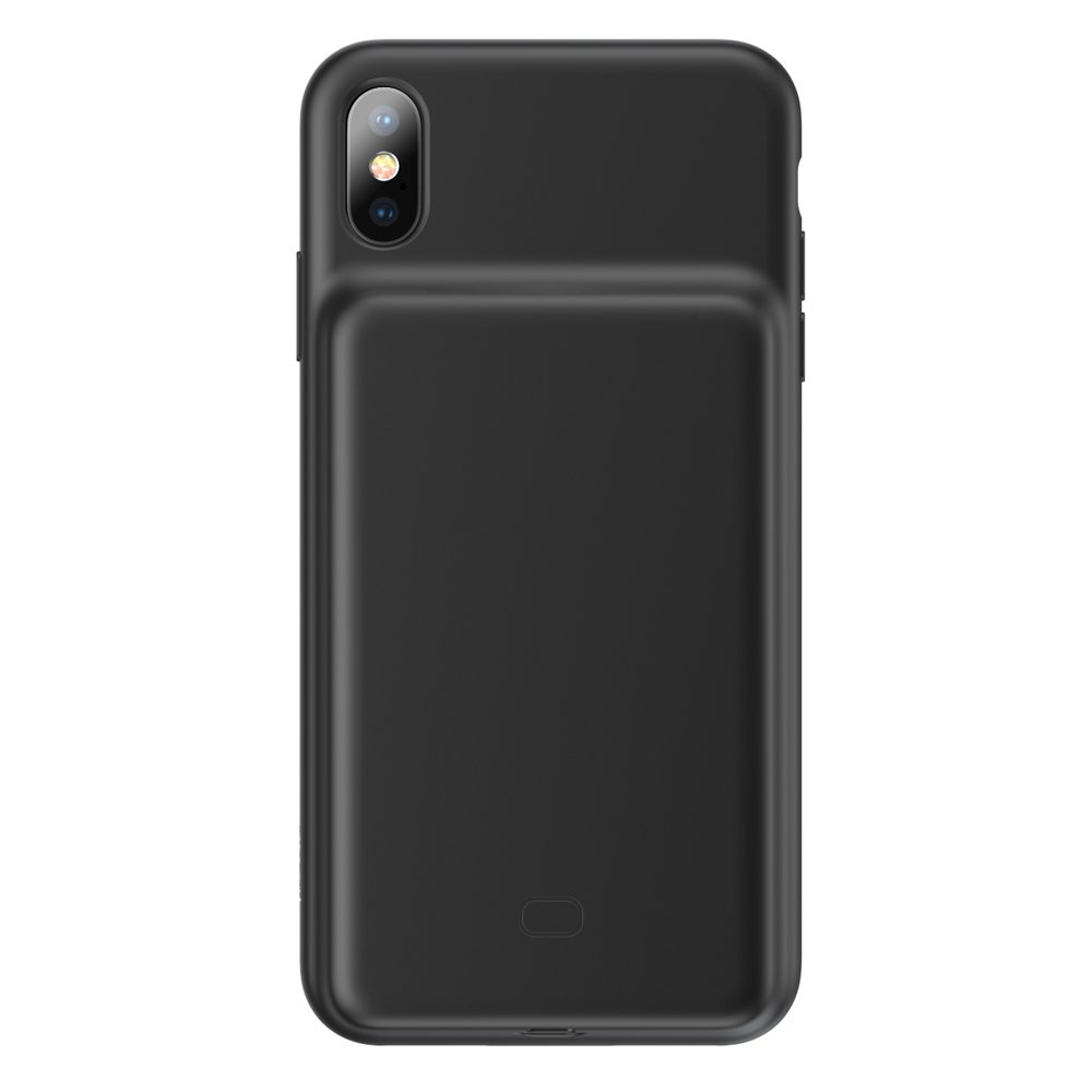 Чехол-аккумулятор Baseus Silicone Smart Backpack Power For iPhone XS Max - Black (ACAPIPH65-BJ01)