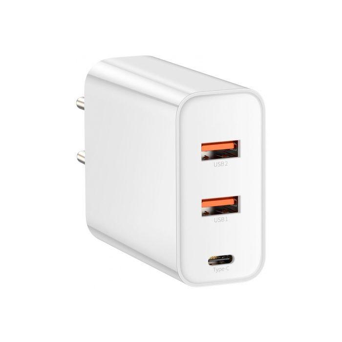 арядное устройство Baseus PPS Three Output Quick Charger (C+U+U) 60W EU White (CCFS-G02)