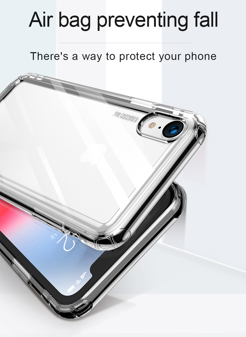 Чехол Baseus Safety Airbags Case for iPhone Xr (2018) Transparent (ARAPIPH61-SF02)