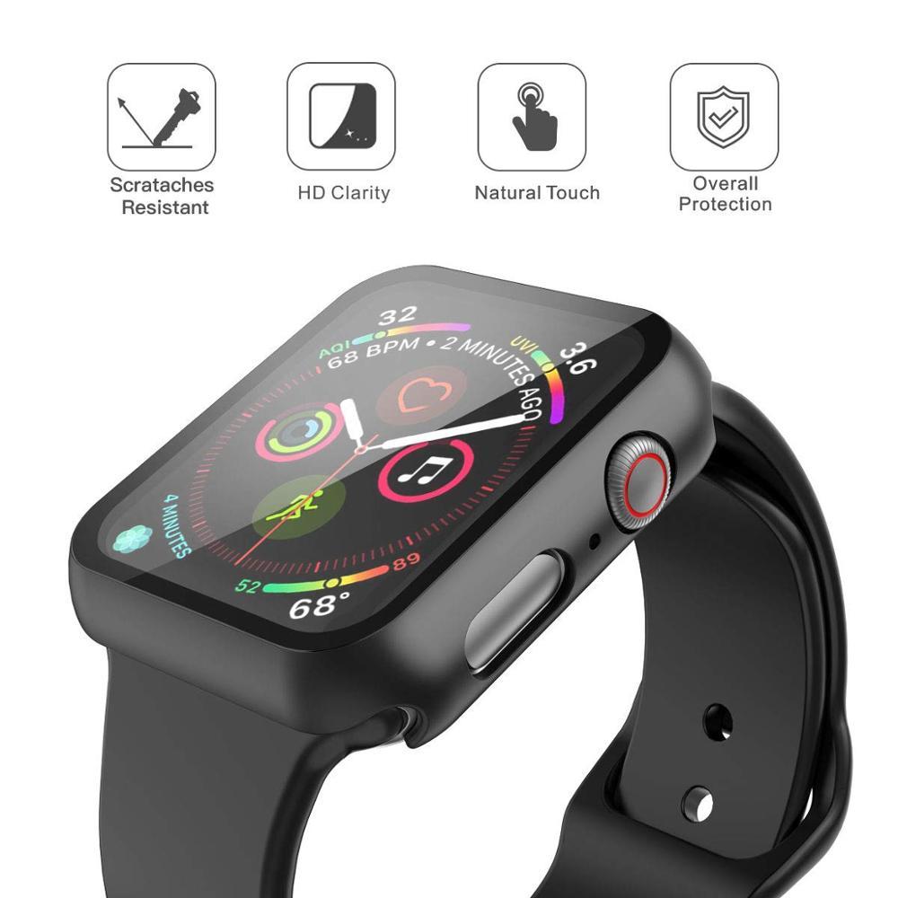 Чехол с защитным стеклом STR для Apple Watch 42 mm - Black