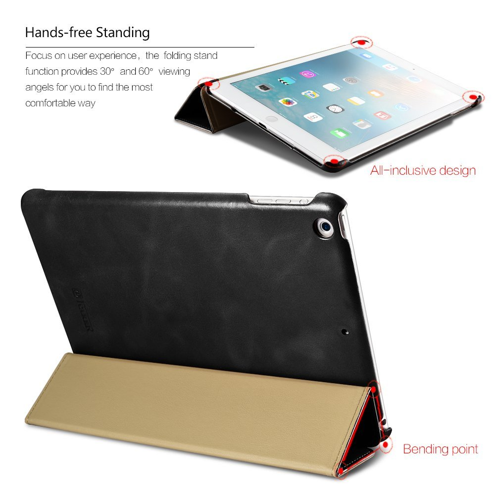 Чехол iCarer Vintage Leather Case for iPad Pro 10.5 (2017) - Black (RID708-BK)
