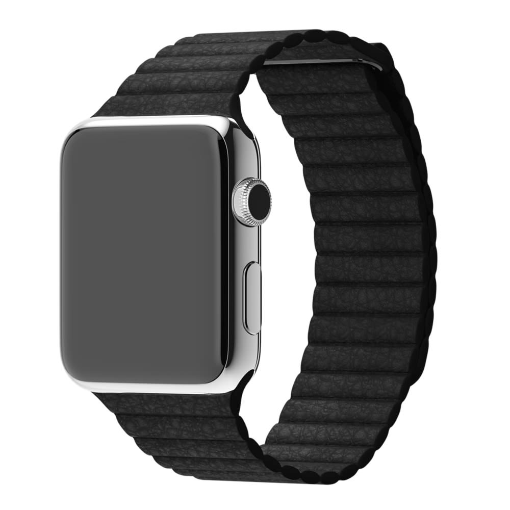 Кожаный ремешок STR Leather Loop Band for Apple Watch 42/44 mm - Black