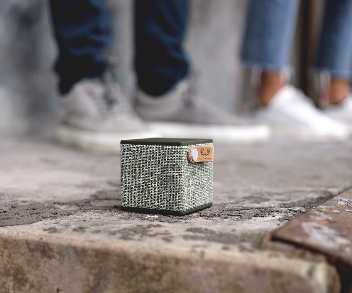 Fresh 'N Rebel Rockbox Cube Fabriq Edition Bluetooth Speaker Army (1RB1000AR)
