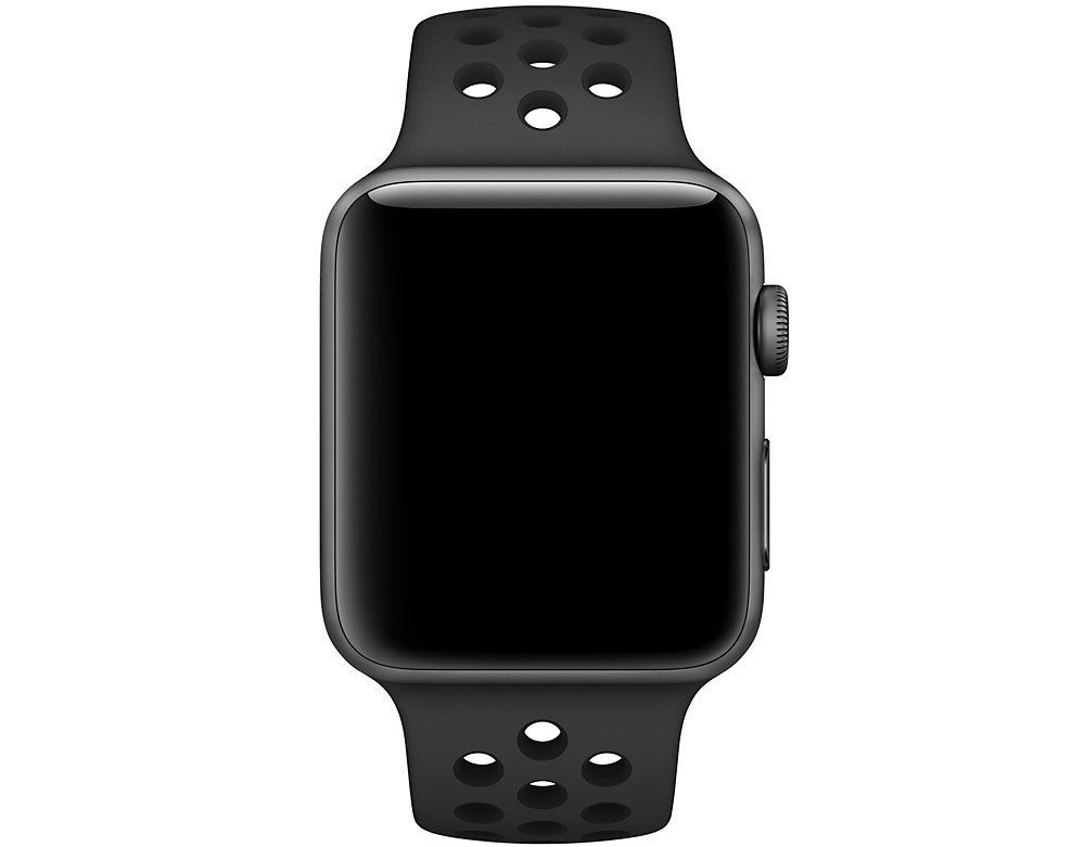 Ремешок STR Nike Sport Band for Apple Watch 42/44 mm - Anthracite/Black