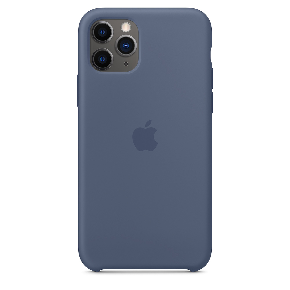 Чехол STR Silicone Case for iPhone 11 Pro Max - Alaskan Blue (Лучшая копия)
