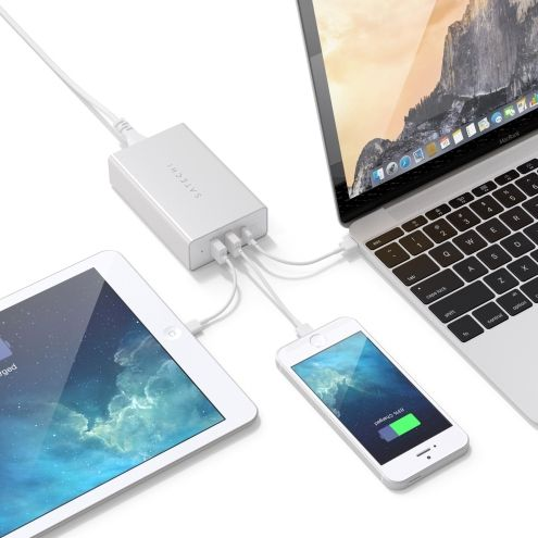 Зарядное устройство Satechi USB-C 40W Travel Charger Silver (ST-ACCAS)
