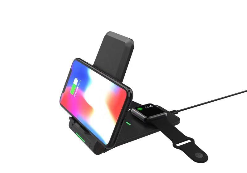 Беспроводная зарядка STR Desktop Wireless Stand for iPhone and Apple Watch - Black