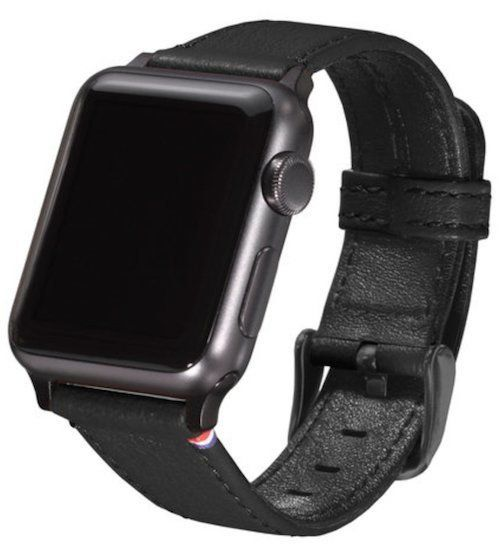 Кожаный ремешок Decoded for Apple Watch 38/40 mm Leather Strap - Black (D5AW38SP1B)