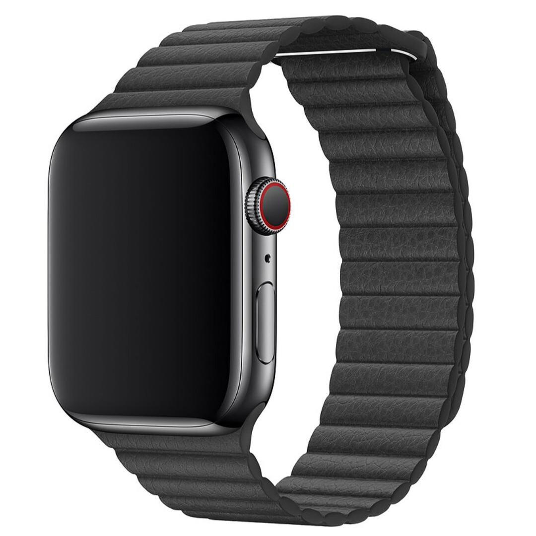 Кожаный ремешок STR Leather Loop Band for Apple Watch 38/40 mm - Black