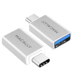 Адаптер Macally USB-C to USB-A Adapter (2-Pack) (UCUAF2), цена | Фото