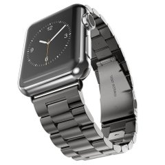 Металлический ремешок STR 3-Bead Metal Band for Apple Watch 42/44 mm - Black, цена | Фото