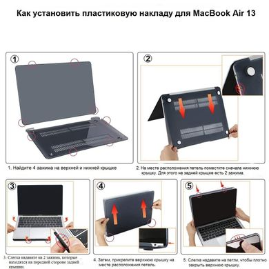 Пластиковая накладка STR Matte Hard Shell Case for MacBook Air 13 (2012-2017) - Сamouflage Green, цена | Фото