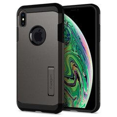 Чехол Spigen для iPhone XS Max Tough Armor Gunmetal, цена | Фото