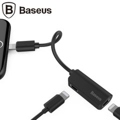 Переходник Baseus iP Male to iP+iP Female Adapter L37 черный, цена | Фото