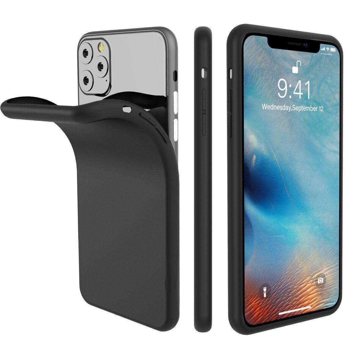 Чехол Mutural TPU Design Case for iPhone 11 Pro Max - Black