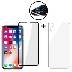 Защитное стекло JINYA Defender 3 in 1 set for iPhone XR - Black (JA6008), цена | Фото