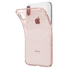 Чехол Spigen для iPhone XS Max Liquid Crystal Glitter Rose Quartz, цена | Фото
