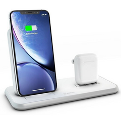 Док-станція Zens Stand + Dock Aluminium Wireless Charger 10W White (ZEDC06W/00), ціна | Фото