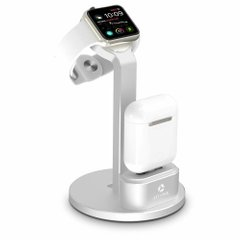 Док-станция STR 2 in 1 Multi-functional Stand for AirPods / Apple Watch - Black, цена | Фото