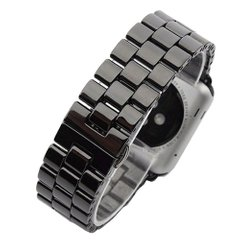 Керамический ремешок STR 3-Bead Ceramic Band for Apple Watch 42/44 mm - Black, цена | Фото