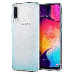 Чехол Spigen для Galaxy A50 Liquid Crystal Glitter, Crystal Quartz, цена | Фото