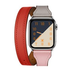 Ремешок STR Hermes Double Tour for Apple Watch 42/44mm - Pink/Red, цена | Фото