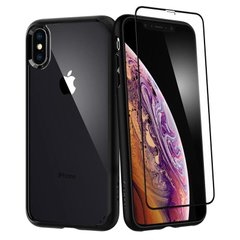 Чехол + стекло Spigen для iPhone XS Max Ultra Hybrid 360 Black, цена | Фото