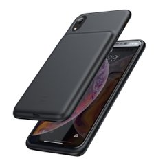 Чехол-аккумулятор Baseus Silicone Smart Backpack Power For iPhone XR - Black (ACAPIPH61-BJ01), цена | Фото
