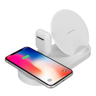 Док-станция STR 5 in 1 Wireless Charging Station for iPhone / Apple Watch / AirPods - White, цена | Фото