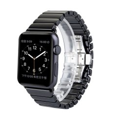 Керамический ремешок STR 1-Bead Ceramic Band for Apple Watch 42/44 mm - Black, цена | Фото
