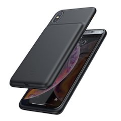 Чехол-аккумулятор Baseus Silicone Smart Backpack Power For iPhone XS Max - Black (ACAPIPH65-BJ01), цена | Фото