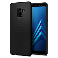 Чехол Spigen Galaxy A8 (2018) Case Liquid Air Matte Black, цена | Фото