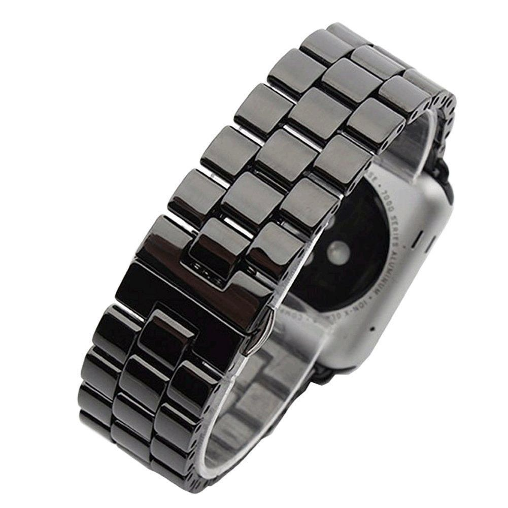 Керамический ремешок STR 3-Bead Ceramic Band for Apple Watch 38/40 mm - Black