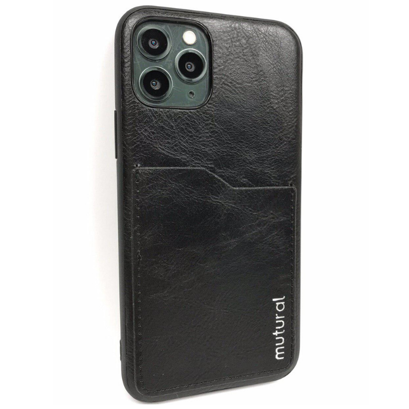 Чехол Mutural Leather Design Case for iPhone 11 Pro Max - Black