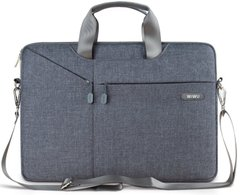 Cумка WIWU Gent Brief Case for 15 inch MacBook Pro - Gray, цена | Фото