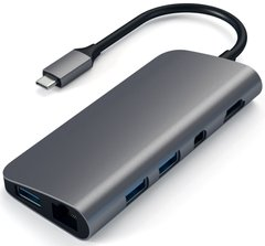 Satechi Aluminum Type-C Multimedia Adapter Space Gray (ST-TCMM8PAM), цена | Фото