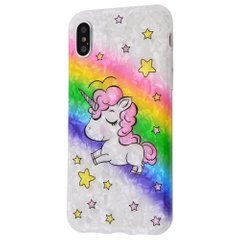 Чехол STR Blood of Jelly Cute Series for iPhone 7/8 - Unicorn Rainbow (20586), цена | Фото