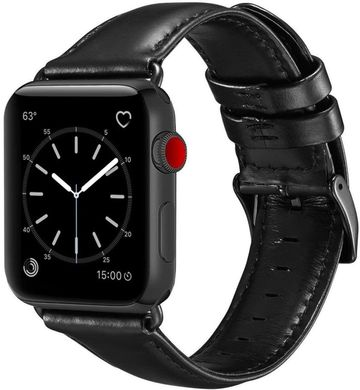 Ремешок STR Crazy Horse Retro Style Leather Band for Apple Watch 42/44 mm - Black, цена | Фото