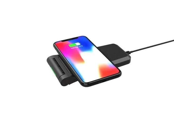 Беспроводная зарядка STR Desktop Wireless Stand for iPhone and Apple Watch - Black, цена | Фото
