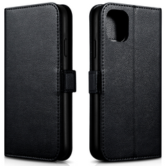 Чохол-книжка iCarer Nappa Wallet Case for iPhone 11 Pro - Black (RIX1105), ціна | Фото