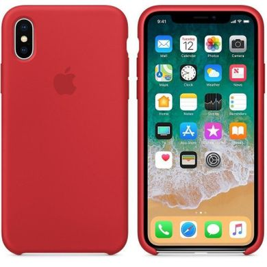 Силиконовый чехол Apple iPhone Xs Max Silicone Case OEM - (Product) Red, цена | Фото
