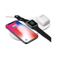 Беспроводное З/У STR Fast AirPower Charger 3in1 - White, цена | Фото